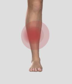 Benhinneinflammation, ont på framsidan av underbenet.